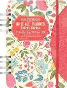Orange Circle Studio 17-Month 2016 Do It All Planner, Secret Garden
