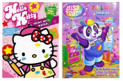 Lisa Frank and Hello Kitty Paint with Water Books, 16 Tear Out Pages