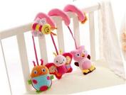 Hangqiao Baby Pram Crib Butterfly Beatles Spiral Plush Toys