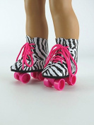 Rockin' Zebra Roller Skates for 46cm Dolls