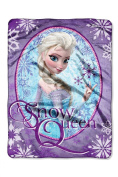"Disney Frozen ""Snow Queen"" Plush Micro Raschel Throw by The Northwest Company, 120cm by 150cm"
