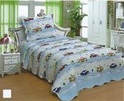 Kids' Boys & Girls Twin Size Polyester 2pcs Bedspread Quilt Coverlet & Sham 02