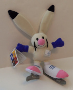 Powder Bunny Rabbit on Ice Skates Plush Mascot From 2002 Salt Lake City Winter Olympics
