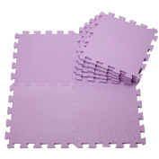 Menu Life EVA Jigsaw Play Mats Kids Soft Puzzle Play Mat Soft Foam Play Mat Pop-Out Mats -Purple