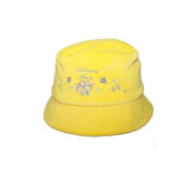 Floppy Sun Protection Bucket Lint Hat For Baby Girls Yellow