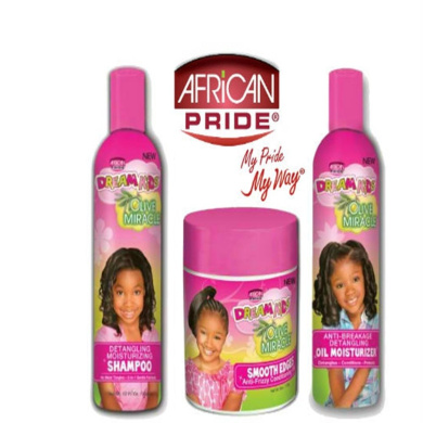 African Pride Dream Kids Olive Miracle Detangling Moisturising set of 3 products IV