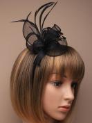 Allsorts® Black Headband Aliceband Hat Fascinator Wedding Ladies Day Race Royal Ascot