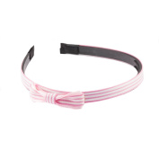 Mytoptrendz Bow Alice Hair Band With Pink and White Striped Bow Design Alice Headband Head Wrap