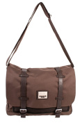 PH-1439 Brown Jeep Messenger Unisex School Laptop Shoulder Bag