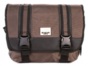 PH-1443 Brown Jeep Laptop Messenger Unisex School Shoulder Bag