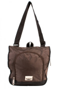 PH-1442 Brown Jeep Messenger Unisex School Laptop Shoulder Bag