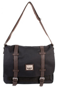 PH-1439 Black Jeep Messenger Unisex School Laptop Shoulder Bag