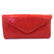 Leather pouch bag 'Frandi'red (2 bellows)leopard.