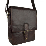 Mens Ladies Buffalo LEATHER North South Cross Body BAG By PrimeHide Shoulder