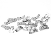 20pcs Blank Stainless Steel Shoe Clips Clip on Findings Craft 14x16mm