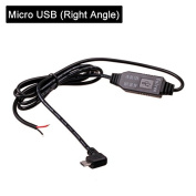 HitCar DC 12V to 5V Power Inverter Mini / Micro USB DC 3.5 Hard Wired Converter Kit Car Charger Cable for GPS Tablet Phone PDA DVR Recorder