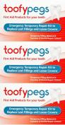 Toofypegs Emergency Repair For Fillings And Crowns x 3 Packs