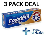 Fixodent Denture Adhesive Cream Dual Power 40g **3 PACK DEAL**