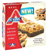 Atkins Advantage Meal Bars - Chocolate Peanut Butter Pretzel x 5 bars