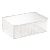 InterDesign Clarity Lipstick and Cosmetic Box, Clear