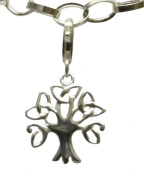 Sterling Silver Celtic Tree of Life Clip on Charm