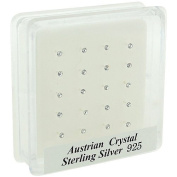 The Olivia Collection Austrian Crystal Sterling Silver 20 Piece Nose Stud Set