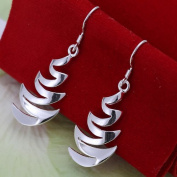 Earrings in Zigzag Shape Cooler, P.L, 925 Sterling Silver, Earrings, Ladies Jewellery, Gift for Valentine's Day
