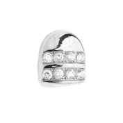 Micro Pave Single Teeth Grill - One size fits all - Silver
