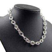 . necklace with Double Twisted Links - 925 Sterling Silver Plated, Women's Jewellery, Geschenk
