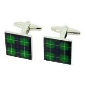 Scottish McDonald Green Tartan Metal Gents Cufflinks Cuff Links by Jakob Strauss