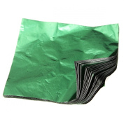 KINGSO 100pcs Square Sweets Candy Chocolate Lolly Paper Aluminium Foil Wrappers Green