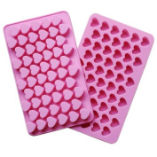 IDH Silicone 55 Heart Cake Chocolate Cookies Baking Mould Ice Cube Soap Mould Tray