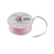 Light Pink 6mm x 45 Metres Organza Ribbon For Favour Boxes & Crafts - Stella Crafts