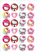 24 x Hello Kitty fairy cake toppers printed on icing