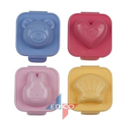 Lifetime Cooking 4pc Egg Shapers: Boiled Egg Moulds