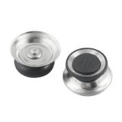 Water & Wood 2 Pcs Black Silver Tone Cookware Pot Pan Skillet Lid Replacement Knob