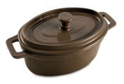 Baumalu - 388056 - Cast iron oval pot with lid 125cm TAUPE