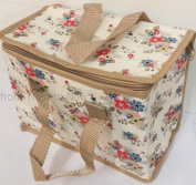 Vintage Floral Daisies Insulated Lunch Bag