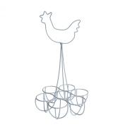 Sophie Allport Wire Egg Rack / Egg Holder - Chicken design