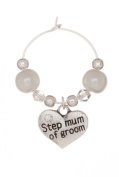 Step Mum of Groom Wine Glass Charm Handmade by Libby's Market Place