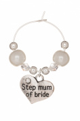 Step Mum of Bride Wine Glass Charm Handmade by Libby's Market Place