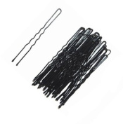 24 X 8cm Extra Long Black Hair Pins/Grips/ U shape Pins For hair Up Do By Mytoptrendz