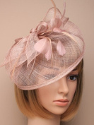 Allsorts® Large Nude Hat Fascinator Weddings Ladies Day Race Royal Ascot