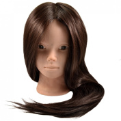 Neverland Professional 60cm 50% Real Human Hair Hairdressing Equipment Styling Head Doll Mannequin Training Head Tools Braiding Cutting Student Practise Makeup Model with Clamp