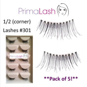 PrimaLash 5 Pairs False Eyelashes Petite/corner/accent lashes #301 Value Pack