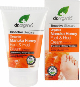 Dr organic manuka honey foot & heel cream 125ml