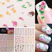 3D Colourful Flower Nail Art Stickers