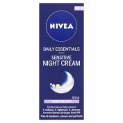 Nivea Daily Essentials Sensitive Night Cream - 50 ml, Pack of 2