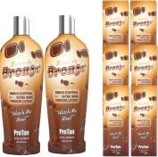 Pro Tan Stunningly Bronze Crowd Stopping 50xx Tanning Kit Ultra Dark Tanning Lotion 2 x 250ml with 6 x 22ml Sachets