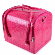 NEW Watermelon Pink Beauty Box Cosmetic Make Up Vanity Saloon Case